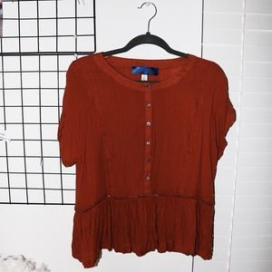flowy top from francesca's! Size L